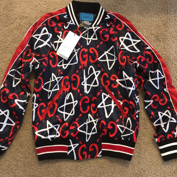 de068bc29 Gucci Jackets & Coats | Mens Ghost Star Bomber Jacket | Poshmark